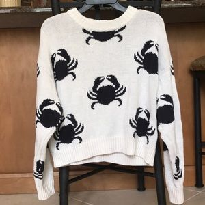 H&M Chunky Knit Crab Sweater